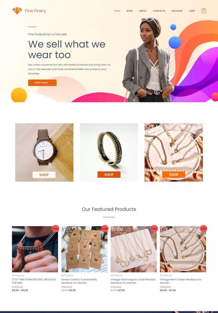 Fine Finery Webiste - Buy Fine Jewlery